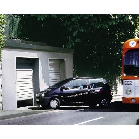 Porte lte40 rainures s woodgrain - Porte de garage sectionnelle woodgrain ...